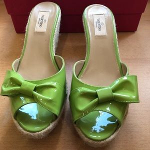 NEW W BOX VALENTINO WEDGE SANDAL